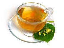 De thee en de bloemen van de linde Royalty-vrije Stock Foto