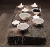 De thee van China, kaarsen Stock Foto