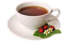 De thee van de aardbei Stock Foto