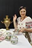 De thee van de dame Royalty-vrije Stock Foto's
