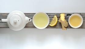 De thee van de gembercitroen Stock Afbeeldingen