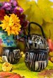 De thee van de herfst Stock Fotografie