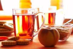 De thee van de ochtend stock afbeelding