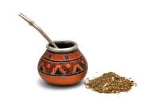 De thee van de Partner van Yerba stock afbeeldingen