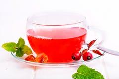 De thee van de rozebottel Stock Foto