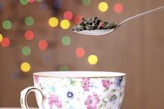 De thee van het blad stock fotografie