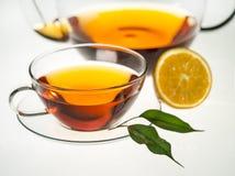 De thee van het fruit op witte achtergrond stock fotografie