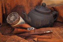 De thee van het stilleven in de Japanse stijl Stock Fotografie