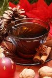 De thee van Kerstmis Stock Foto's