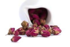 De thee van rozenbloemen Stock Fotografie