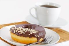 De Theepauze van de doughnut Royalty-vrije Stock Afbeeldingen