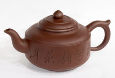 De theepot van China bij wit Royalty-vrije Stock Fotografie