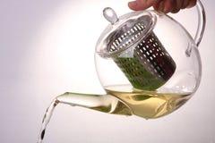 De theepot van het glas Royalty-vrije Stock Afbeeldingen