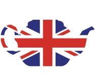 De theepot vectorillustratie van Union Jack Royalty-vrije Stock Foto's