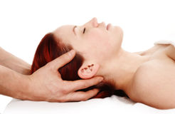 De therapie van de massage stock afbeelding