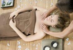 De therapie van de massage stock afbeelding