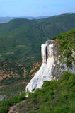 De thermische lentes Hierve Gr Agua in Oaxaca is één van de meeste galant Stock Foto's