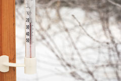 De thermometer van Celsius Stock Afbeelding
