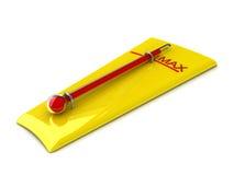 De thermometer vertegenwoordigt gevaar stock illustratie