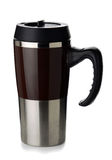 De thermosflessenmok van de koffie Stock Foto's