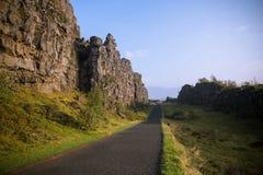 De Thingvellir-vlakte Royalty-vrije Stock Foto