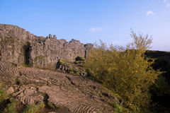 De Thingvellir-vlakte Stock Afbeelding