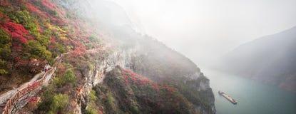De Three Gorges sidorna Royaltyfria Bilder