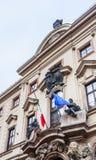 De Thun-Hohenstein do palácio embaixada italiana agora, Nerudova, fotos de stock royalty free
