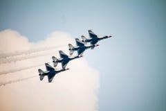 De Thunderbirdslucht toont Stock Fotografie