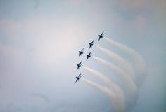 De Thunderbirdslucht toont Stock Afbeeldingen