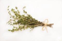 De thyme bond een bos vast tegen wit wordt geïsoleerd dat Royalty-vrije Stock Foto