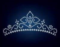 De tiara van de diamant Stock Afbeeldingen