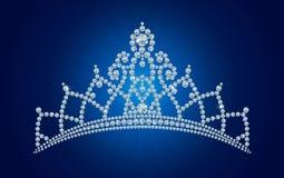 De tiara van de diamant/vectorillustraties Stock Afbeelding