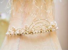 De tiara van het huwelijk stock fotografie