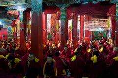 De Tibetaanse boeddhistische tempel Stock Afbeelding