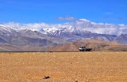 De Tibetaanse mening van Himalayagebergte royalty-vrije stock afbeelding