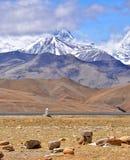 De Tibetaanse mening van Himalayagebergte stock fotografie
