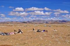 De Tibetaanse mening van Himalayagebergte stock afbeelding