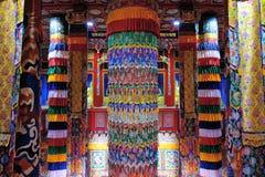 De Tibetaanse zaal van tempelscripture royalty-vrije stock fotografie