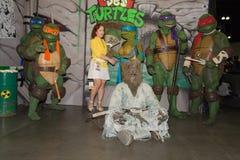 De tiener schildpadden van mutantninja Stock Afbeeldingen