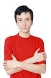 De tiener van 17 jaar Stock Afbeelding