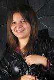 De Tiener van de regenachtig-dag Stock Foto's