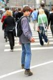 De tiener van de stad Stock Afbeeldingen