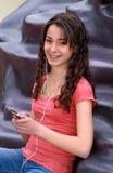 De Tiener van de technologie Stock Foto