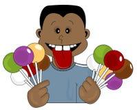 De Tiener van het suikergoed stock illustratie