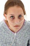 De Tiener van het ziekenhuis Stock Foto's