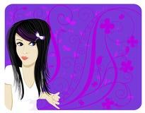 De Tiener van mod. royalty-vrije illustratie