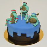 De tienercake van Ninja Mutant Turtles Stock Fotografie