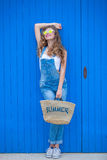 De tienermeisje van de zomer Stock Foto's
