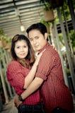 De tienerminnaars genieten van in Thailand Stock Foto's